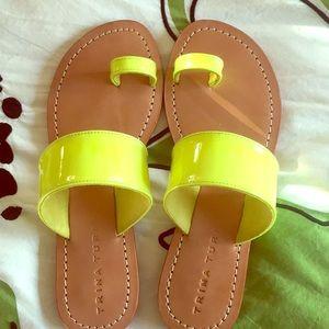 Trina Turk sandal neon yellow